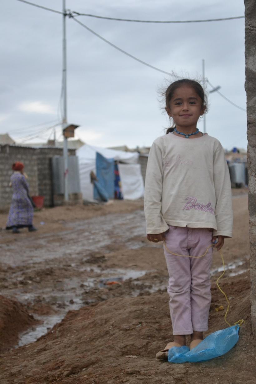 Meisje in vluchtelingenkamp Domiz, noord Irak